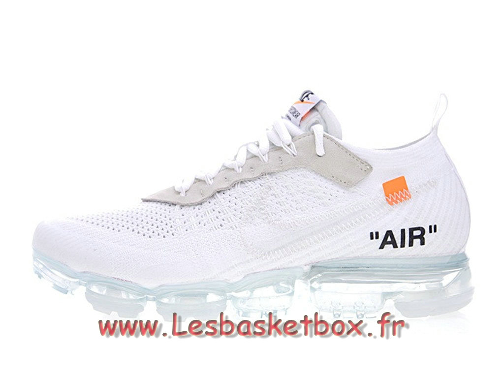 Running Off-White x Nike Air VaporMax White AA3831_100 Chaussures nike Pas cher pour Homme Blanc