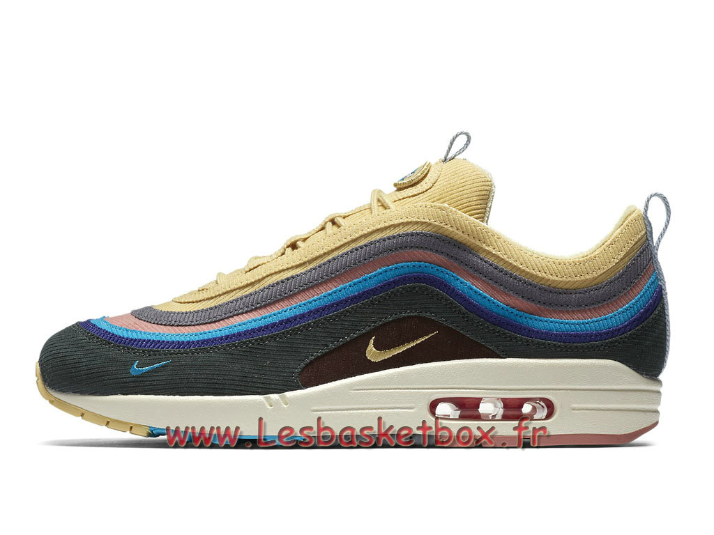 new arrival d09a0 bbd33 Running Sean Wotherspoon x Nike Air Max 97 1 AJ4219 400 Chaussures Officiel  2018 Pour Homme