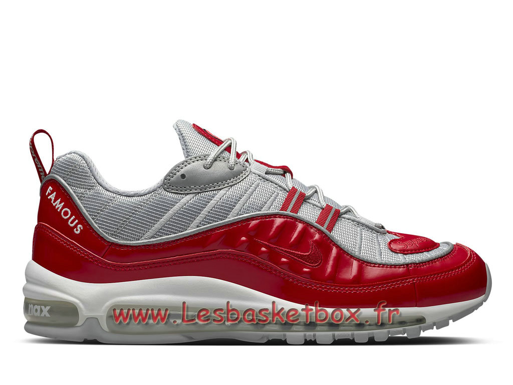 Running Supreme x Nike Air max 98 Red 844694_600 Chaussures Nike 2018 Pour Homme Rouge