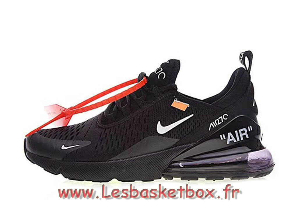 Running White Off X Nike Air Max 270 Black White AH8050_002 Chaussures Nike Sportwear pour Homme noires