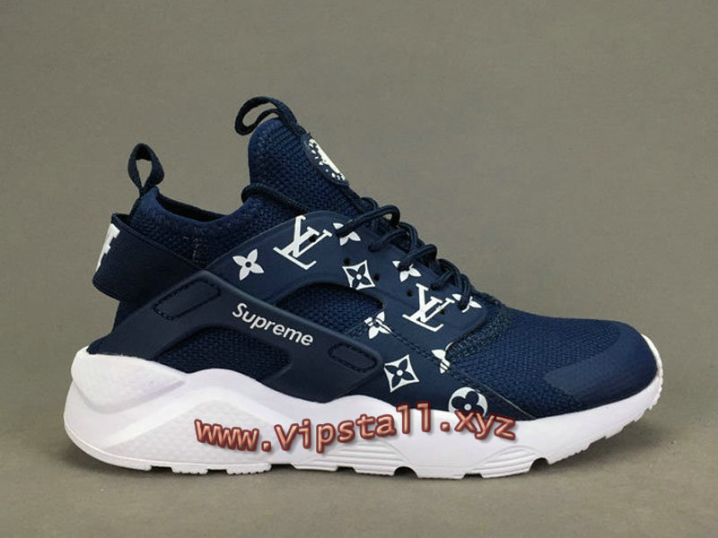 1d103a6eec0f20 ... Running X LV Supreme Nike air Huarache Ultra Blue Chaussures Urh Supreme  Nike Pour Homme ...