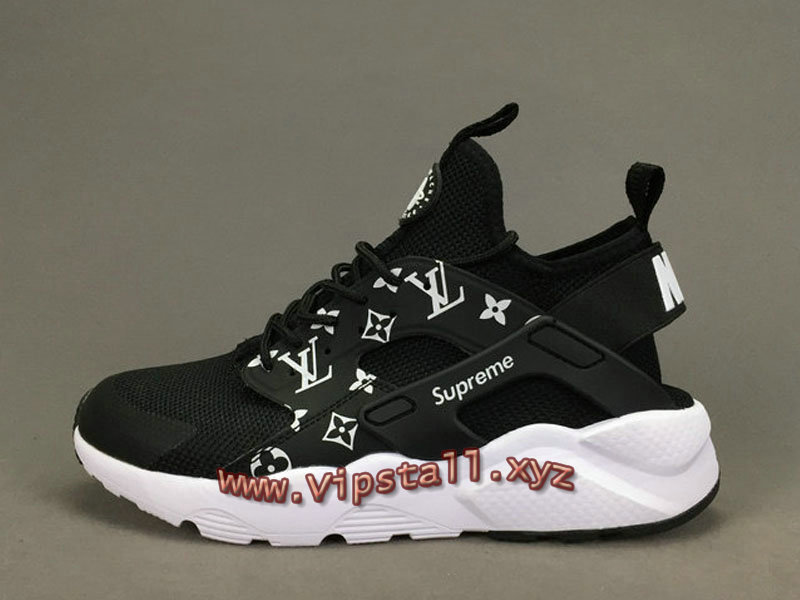 Running X LV Supreme Nike air Huarache Ultra Noires Chaussures Supreme  Nike Urh Pour Homme