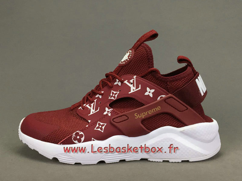 RunningX LV Supreme Nike air Huarache Ultra Red Chaussures Urh Nike  Officiel Pour Homme