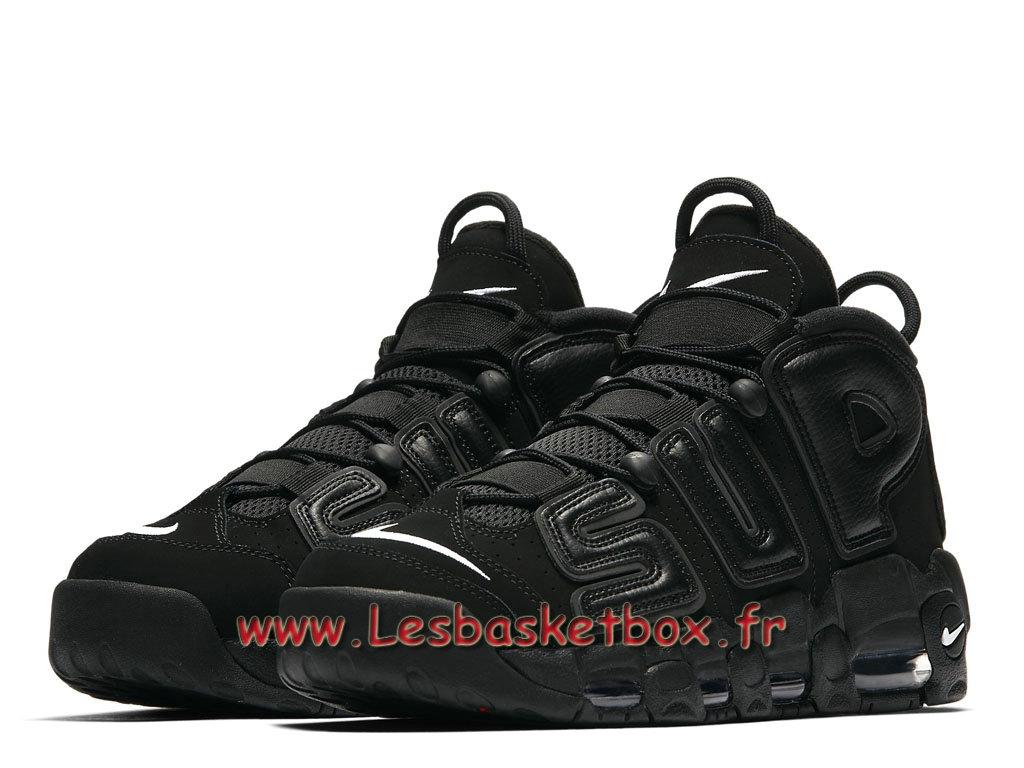 df59b99477 ... Supreme x Nike Air More Uptempo Black 902290_001 Men´s Officiel NIke  Prix Shoes Black ...
