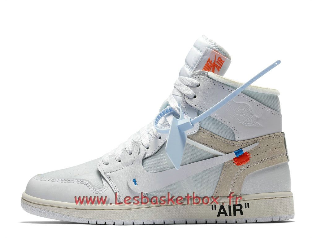 official photos a1bfe 5ab5f The 10 Off-White x Air Jordan 1 White AQ0818 100 Chaussures Basket Nike  Pour Homme ...
