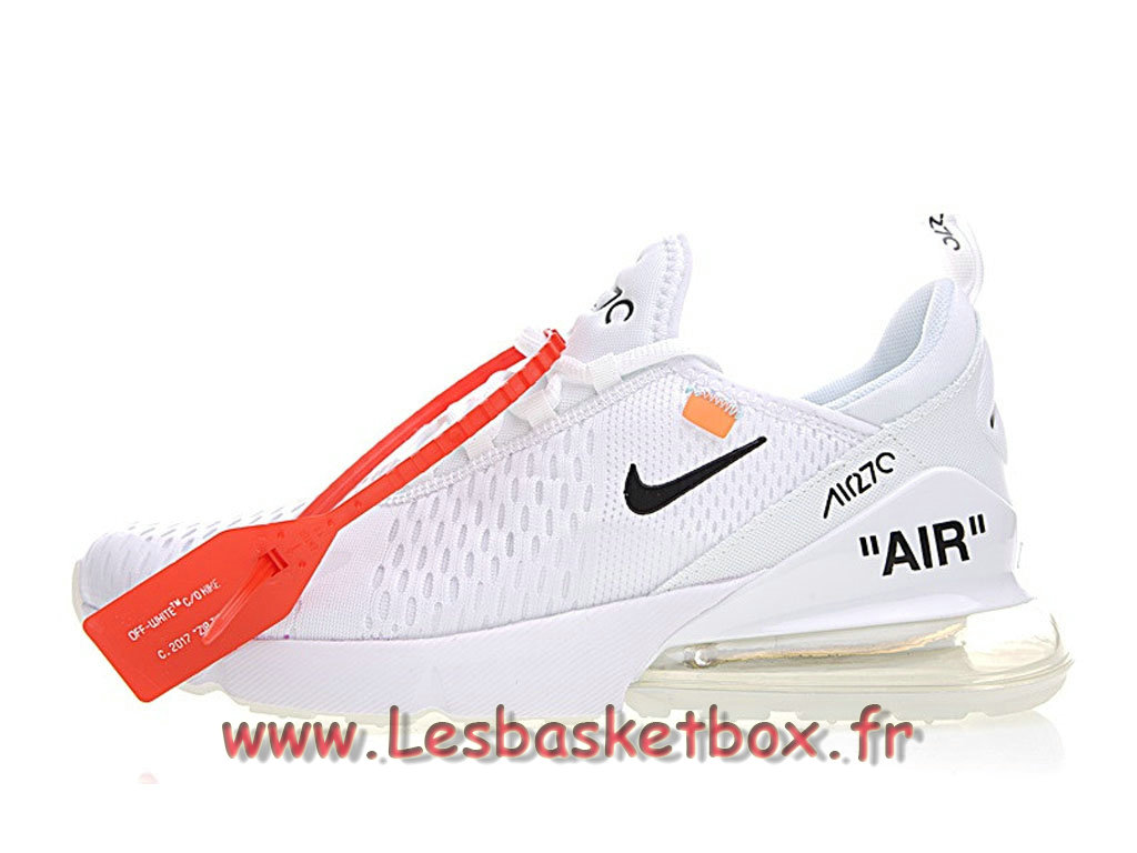 The 10 White Off X Nike Wmns Air Max 270 White Bule AH8050_100F Chaussures Nike Pas cher Pour Homme Blanc